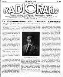 Anno 1927 Fascicolo n. 13