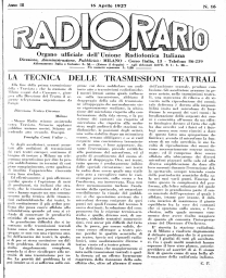 Anno 1927 Fascicolo n. 16