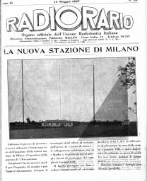 Anno 1927 Fascicolo n. 20