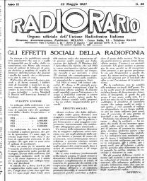 Anno 1927 Fascicolo n. 22