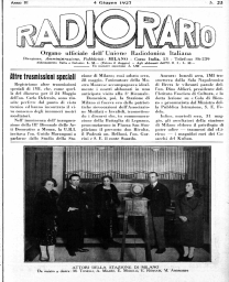 Anno 1927 Fascicolo n. 23