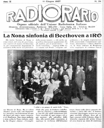 Anno 1927 Fascicolo n. 24