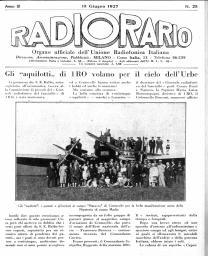 Anno 1927 Fascicolo n. 25