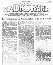Anno 1927 Fascicolo n. 27