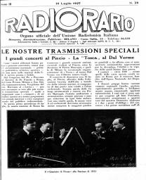 Anno 1927 Fascicolo n. 29
