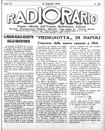 Anno 1927 Fascicolo n. 33