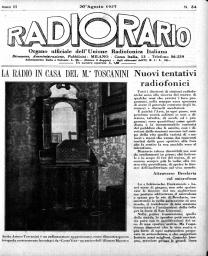 Anno 1927 Fascicolo n. 34