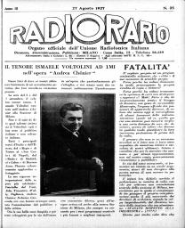 Anno 1927 Fascicolo n. 35