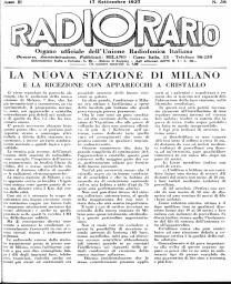 Anno 1927 Fascicolo n. 38