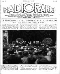Anno 1927 Fascicolo n. 43