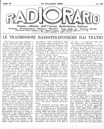 Anno 1927 Fascicolo n. 50