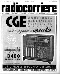 Anno 1939 Fascicolo n. 17